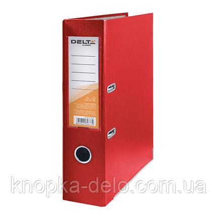 Папка-регистратор Delta D1714-06C односторонняя, PP, 7.5 см, собранная, красная, фото 2