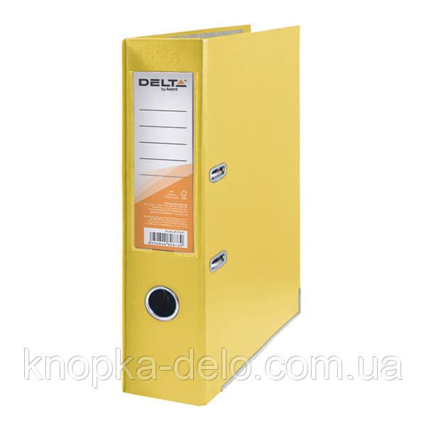 Папка-реєстратор Delta D1714-08C одностороння, PP, 7.5 см, зібрана, жовтий