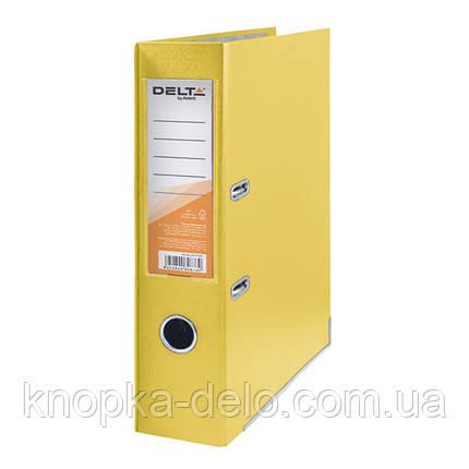 Папка-реєстратор Delta D1714-08C одностороння, PP, 7.5 см, зібрана, жовтий, фото 2