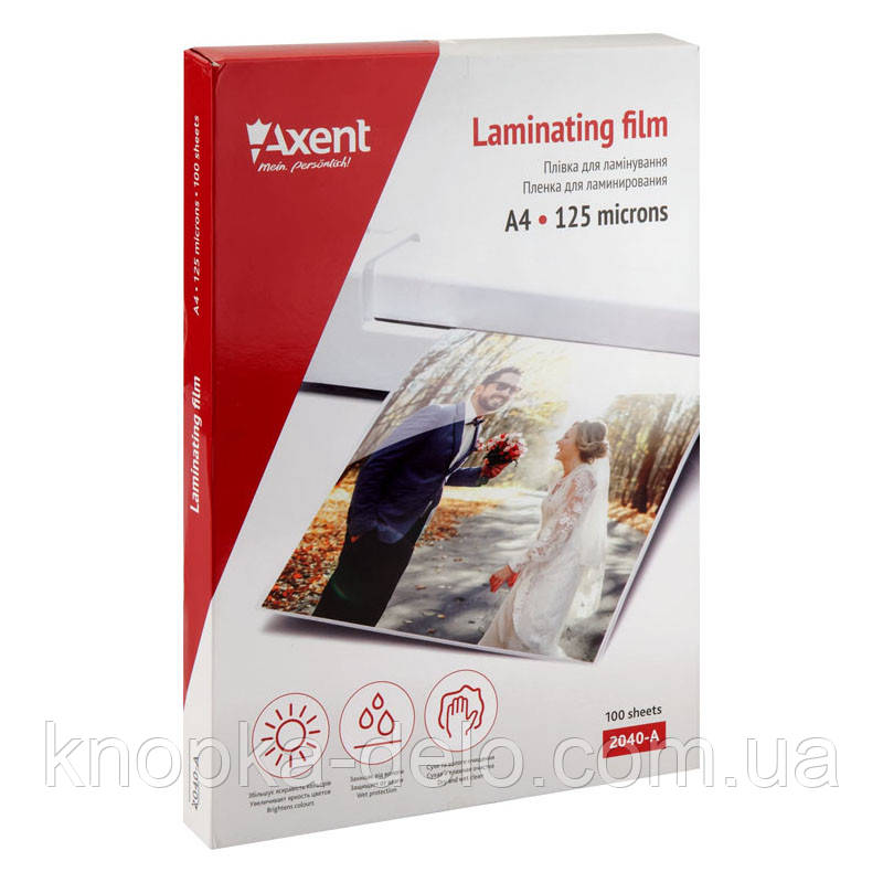 Плёнка для ламинирования 125 мкм, A4, 216 x 303 мм, 100 штук