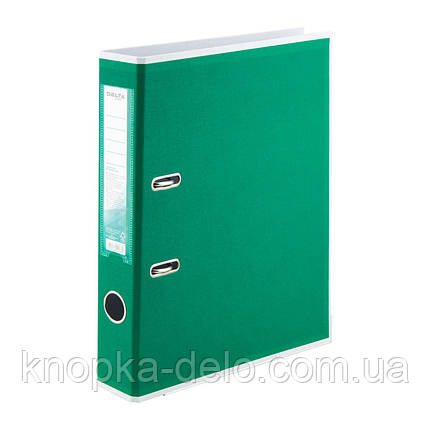 Папка-реєстратор Delta BiColor D1715-04P двостороння, PP, 5 см, розібрана, зелена, фото 2