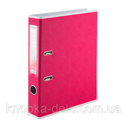 Папка-реєстратор Delta BiColor D1715-05P двостороння, PP, 5 см, розібрана, рожева, фото 2