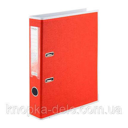 Папка-реєстратор Delta BiColor D1715-06P двостороння, PP, 5 см, розібрана, червона, фото 2