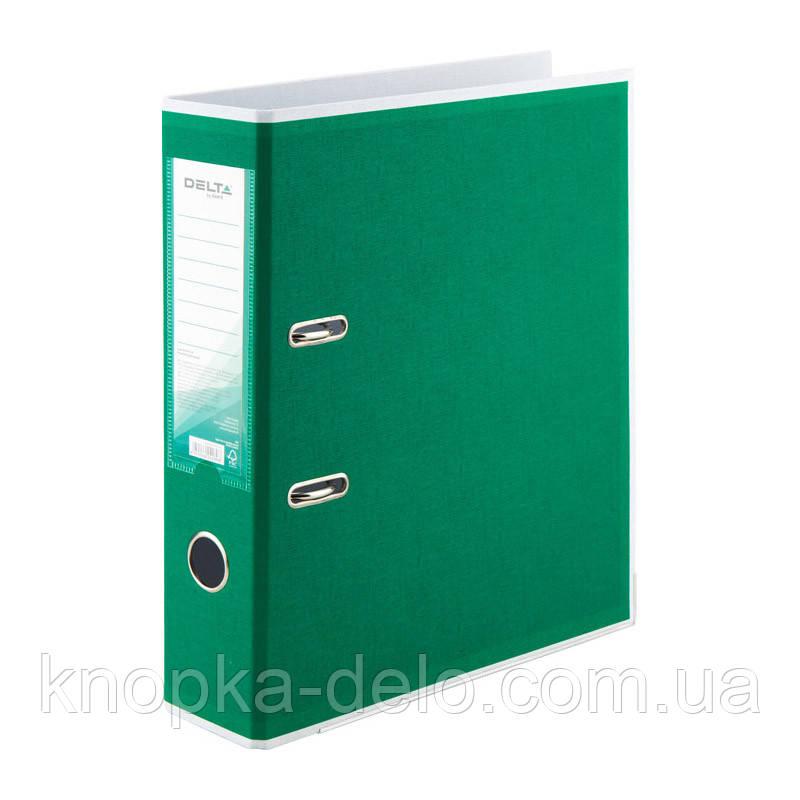 Папка-регистратор Delta BiColor D1716-04P двусторонняя, PP, 7.5 см, разобранная, зеленая