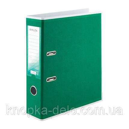 Папка-регистратор Delta BiColor D1716-04P двусторонняя, PP, 7.5 см, разобранная, зеленая, фото 2