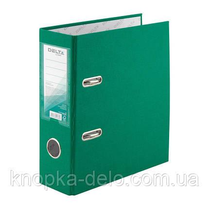 Папка-регистратор Delta D1718-04P односторонняя, А5, PP, 7.5 см, разобранная, зеленая, фото 2