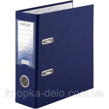 Папка-регистратор Delta D1718-02C односторонняя, А5, PP, 7.5 см, собранная, синяя, фото 2