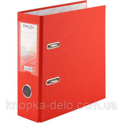 Папка-реєстратор Delta D1718-06C одностороння, А5, PP, 7.5 см, зібрана, червона, фото 2