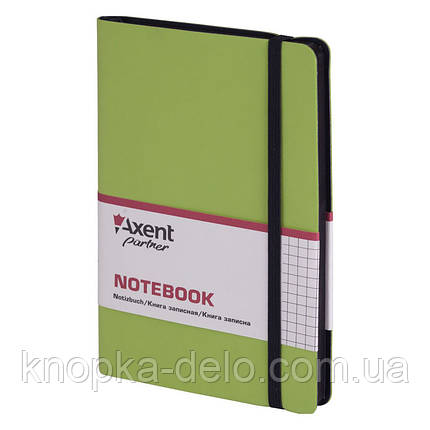 Книга записная Axent Partner Soft 8206-09-A, 125х195 мм, клетка, салатовая, фото 2