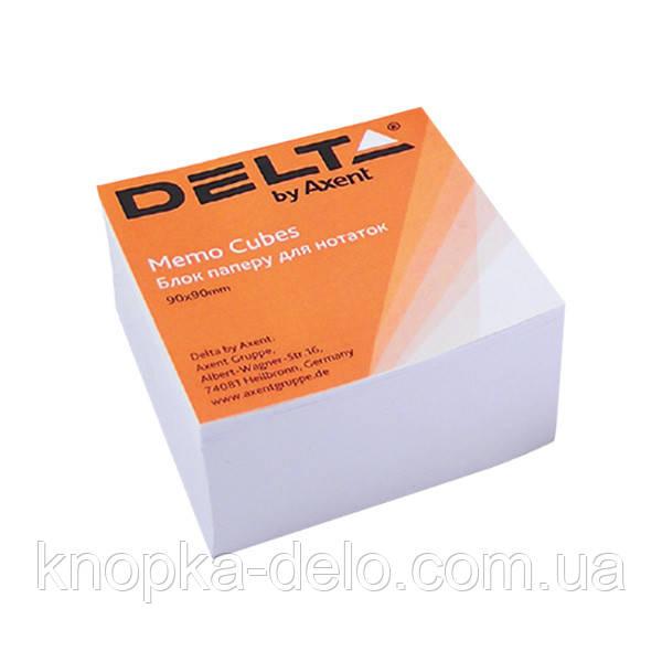 Папір для нотаток Delta D8004, 90х90х30 мм, проклеєна, білий