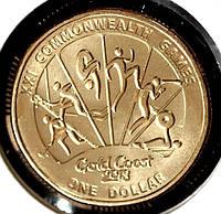 Монета Австралии 1 доллар 2018 г. XXI Игры содружества.