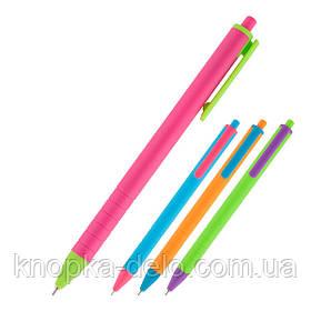 Ручка масляная автоматическая Axent Reporter Color AB1069-02-A, синяя, 0.7 мм