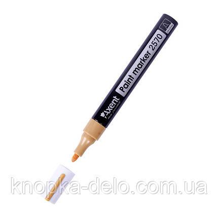Маркер Axent Paint 2570-35-A, 2.4-2.8 мм, круглый золотой, фото 2