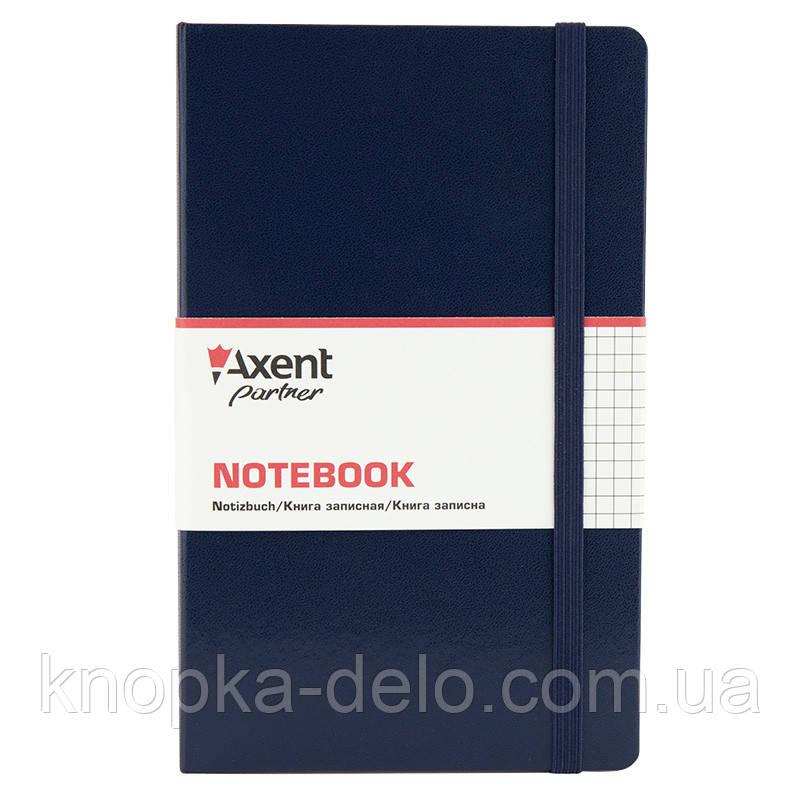 Книга записна Axent Partner Pro 8204-02-A, 130х210 мм, клітина, синя