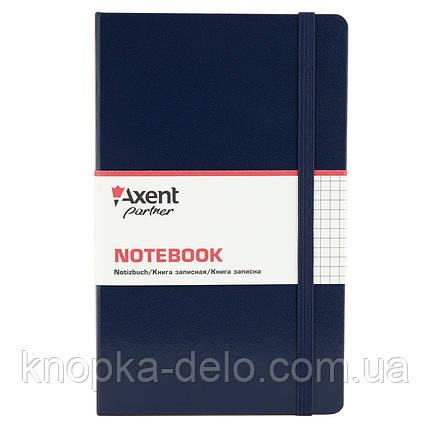 Книга записна Axent Partner Pro 8204-02-A, 130х210 мм, клітина, синя, фото 2