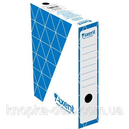Бокс архивный Axent 1731-02-A 80 мм, синий, фото 2
