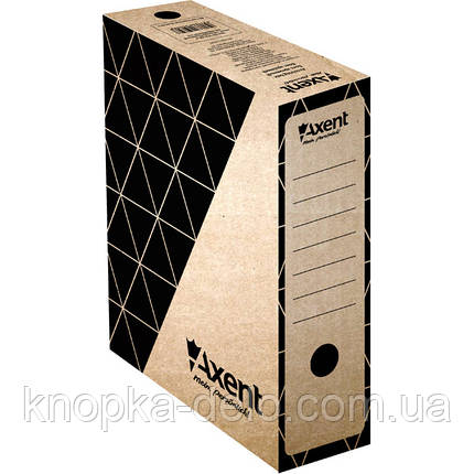 Бокс архивный Axent 1732-00-A 100 мм, крафт, фото 2