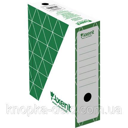 Бокс архивный Axent 1732-04-A 100 мм, зеленый, фото 2