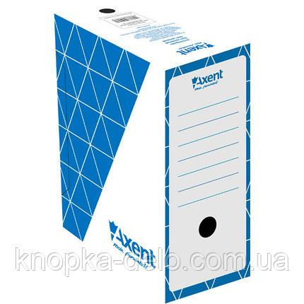 Бокс архивный Axent 1733-02-A 150 мм, синий, фото 2