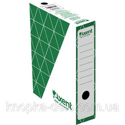 Бокс архивный Axent 1733-04-A 150 мм, зеленый, фото 2