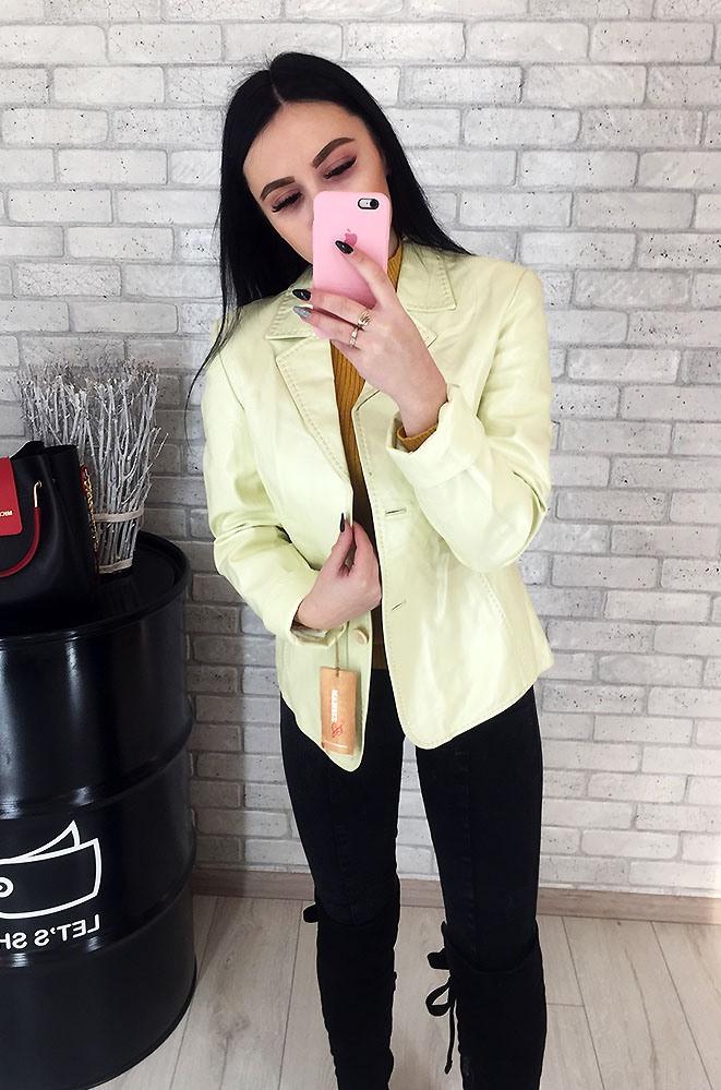 Пиджак женский кожаный (лайка) 019