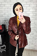 Пиджак женский кожаный (лайка) 024