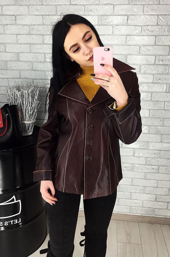 Пиджак женский кожаный (лайка) 017