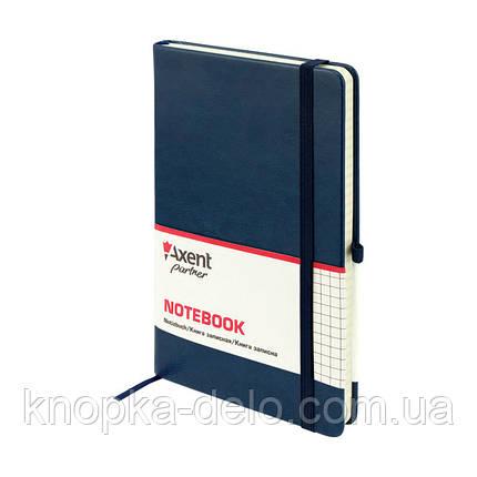 Книга записная Axent Partner Lux 8202-02-A, А5-, 96 листов, клетка, синяя, фото 2