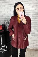 Пиджак женский кожаный (лайка) 029