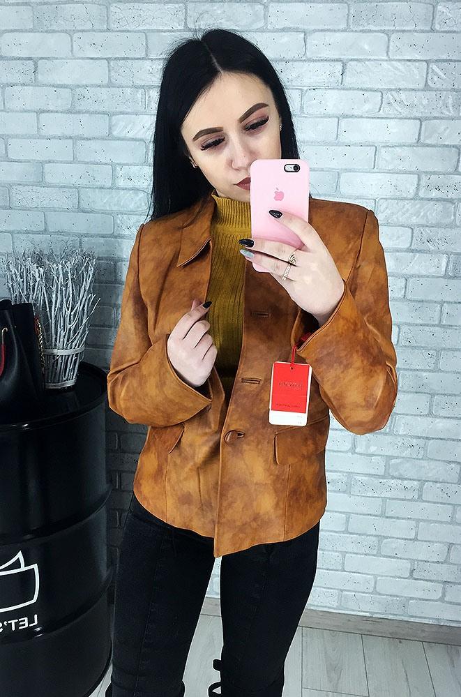 Пиджак женский кожаный (лайка) 033