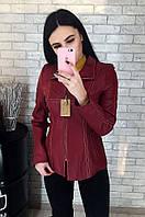 Пиджак женский кожаный (лайка) 027