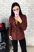Пиджак женский кожаный (лайка) 031