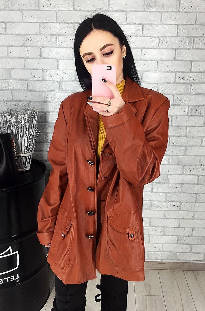 Пиджак женский кожаный (лайка) 049