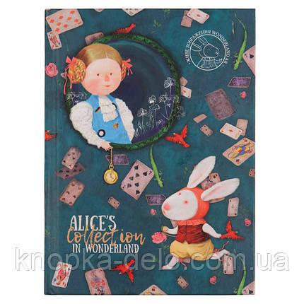 Книга записная в твердой обложке Axent Alice 8432-02-A, A5, клетка, фото 2