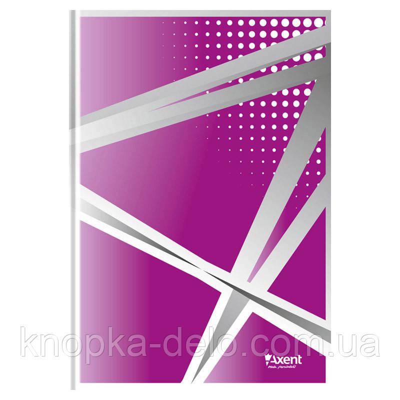 Книга записна Axent серія Office 8422-411-A, А4, тверда обкладинка, 96 аркушів, клітинка, фіолетова