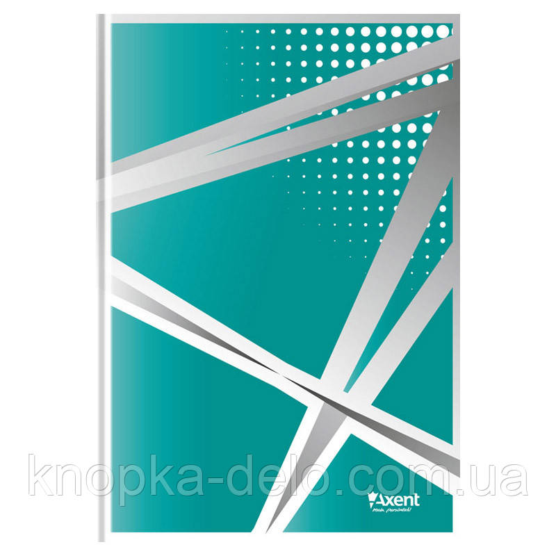 Книга записная Axent серия Office 8422-416-A, А4, твердая обложка, 96 листов, клетка, бирюзовая