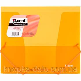 Папка на резинках Axent 1505-25-A, В5, прозрачная оранжевая