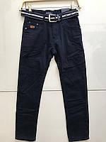 Синие утепленные флисом котоновые брюки Seagull,подростковые 146-152 рост