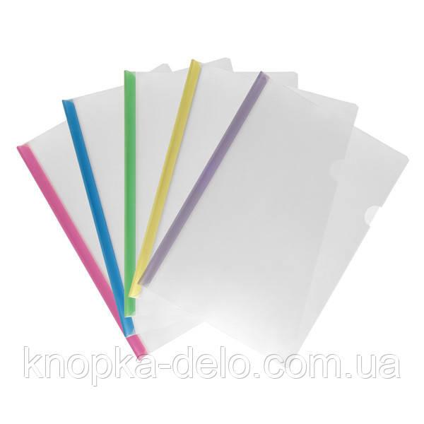 Папка-швидкозшивач Axent 1418-00-A, A4, з планкою