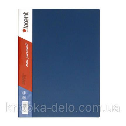 Папка с прижимом Axent 1301-02-A, А4, с внутренним карманом, синяя, фото 2