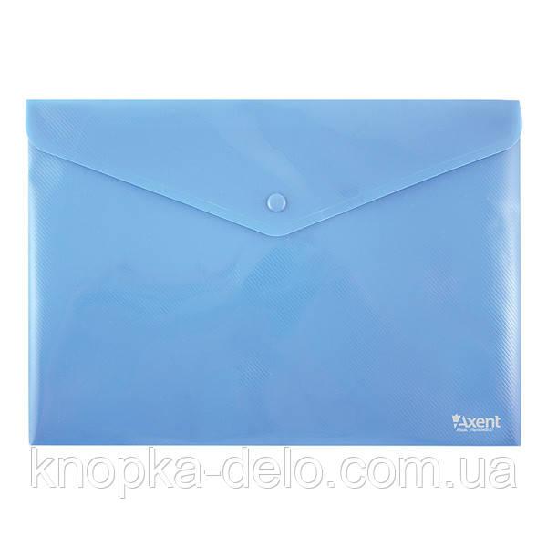 Папка на кнопке Axent 1412-22-A, А4, непрозрачная, синяя