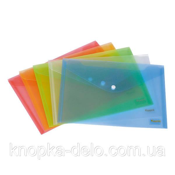Папка на кнопке Axent 1403-20-A, B5, прозрачная, ассортимент цветов