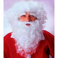 Парик с бородой  и усами Дед мороз/ Санта 35 см., фото 1