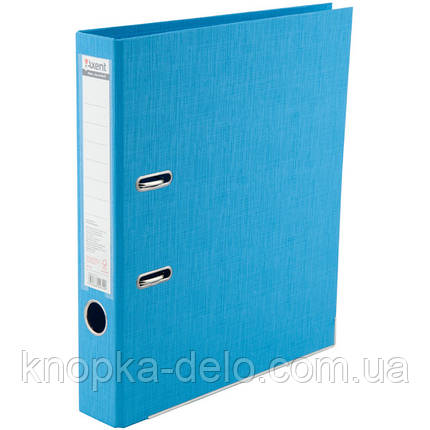 Папка-регистратор Axent Prestige+ 1721-29C-A, A4, с двусторонним покрытием, корешок 5 см, светло-голубая, фото 2