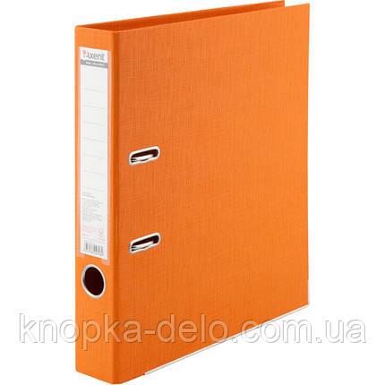 Папка-реєстратор Axent Prestige+ 1721-12P-A, A4, з двостороннім покриттям, корінець 5 см, помаранчева, фото 2