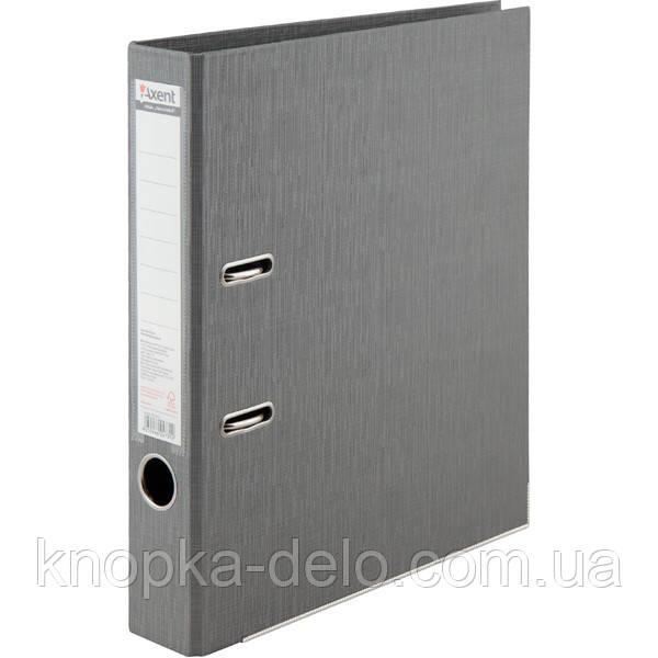 Папка-реєстратор Axent Prestige+ 1721-34P-A, A4, з двостороннім покриттям, корінець 5 см, срібляста