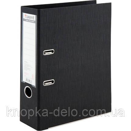 Папка-регистратор Axent Prestige+ 1722-01C-A, A4, с двусторонним покрытием, корешок 7.5 см, черная, фото 2
