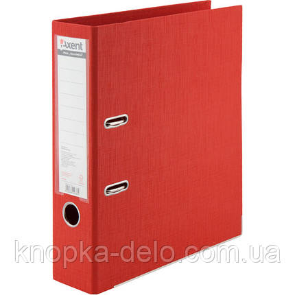 Папка-реєстратор Axent Prestige+ 1722-06C-A, A4, з двостороннім покриттям, корінець 7.5 см, червона, фото 2