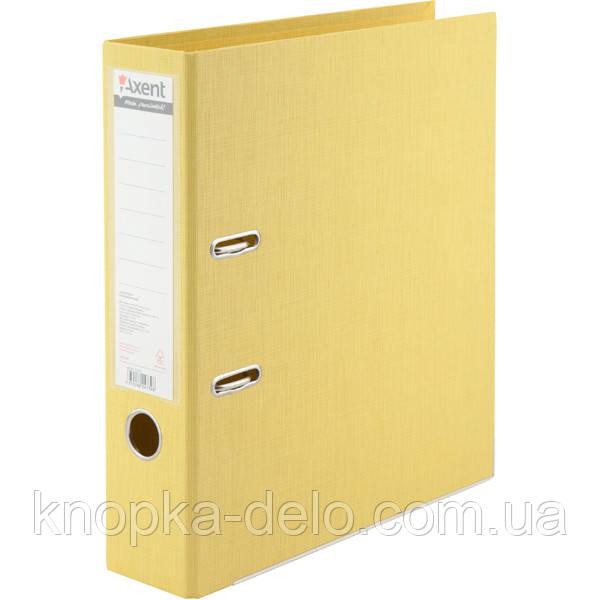 Папка-реєстратор Axent Prestige+ 1722-08C-A, A4, з двостороннім покриттям, корінець 7.5 см, жовта