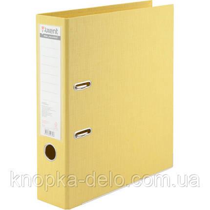 Папка-реєстратор Axent Prestige+ 1722-08C-A, A4, з двостороннім покриттям, корінець 7.5 см, жовта, фото 2